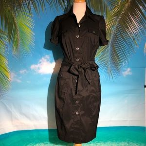 Diane Von Furstenberg Black shirtdress size 12